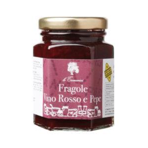 confettura fragole vino rosso pepe